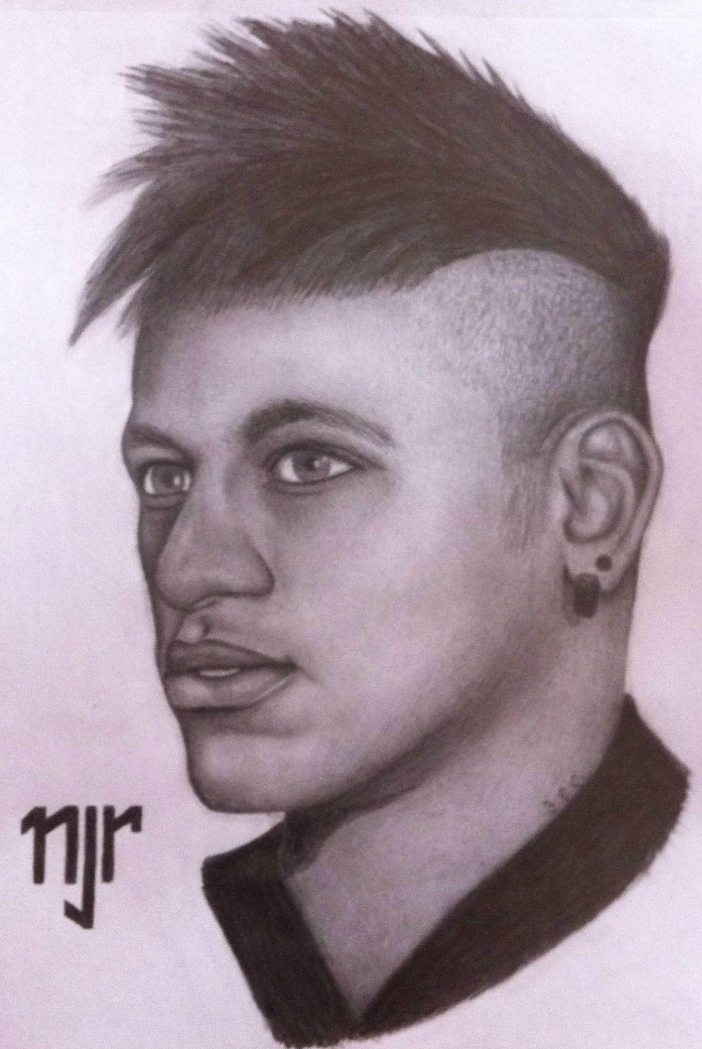 Drawing of #Neymar the Brazilian #football player. He just ...