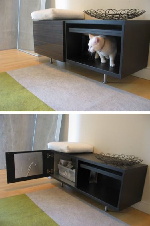 Hidden Litter Box. Definitely On The To Do List. Stack Two For Two Litter