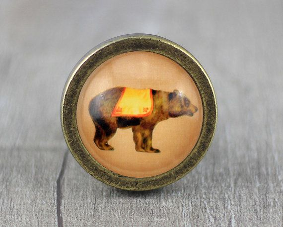Bear Cabinet Dresser Knobs Pull / Dresser Pull / Cabinet Knobs / Furniture  Knobs