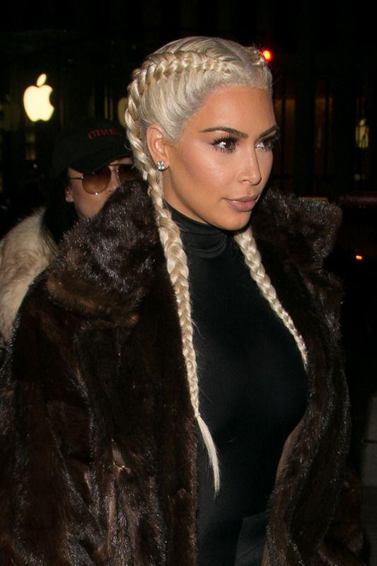 Boxer Braids Cabello Pinterest Kim Kardashian Hair Kim
