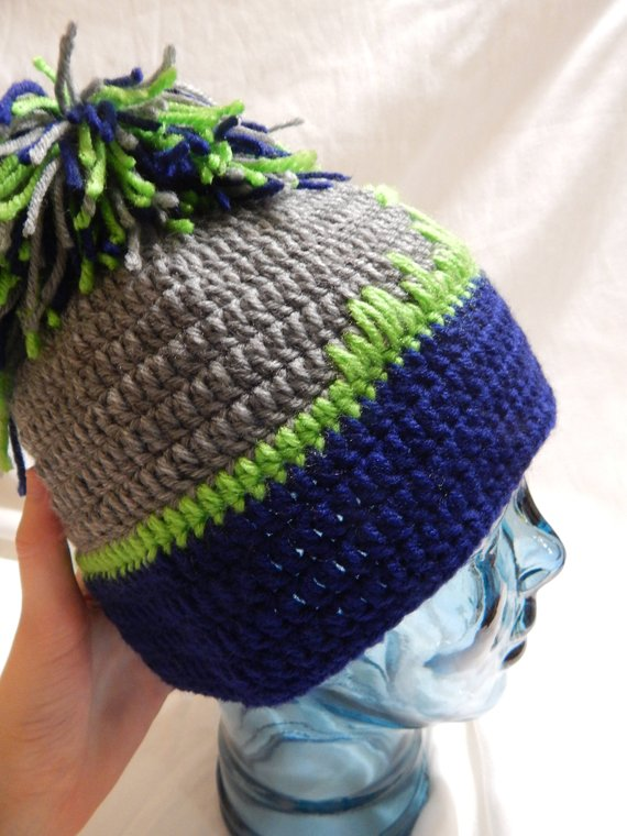 Clearance Seahawks Hat With Seattle Skyline E59cb 267a4