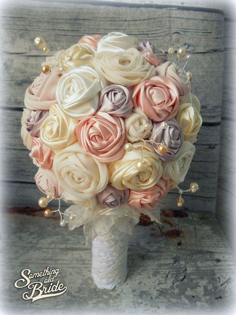 Krémes-gyöngyös Vintage Menyasszonyi  Csokor, Esküvő, Esküvői csokor, Meska
