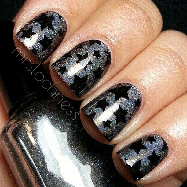 21 Star Nail Designs for Every Woman - Pretty Designs - 21 Star Nail Designs For Every Woman Star, Black And Nail Nail