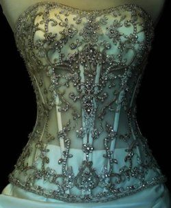 Beautiful! Amazing bead work, would look great over a white slip - #fashion #womensfashion