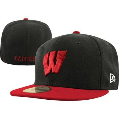 435b281f4ac Wisconsin Badgers New Era 59FIFTY 2 Tone Graphite Fitted Hat  wisconsin   badgers  wiscy