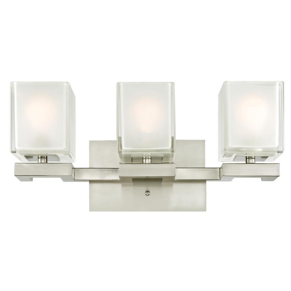 Westinghouse nyle light brushed nickel wall mount bath light