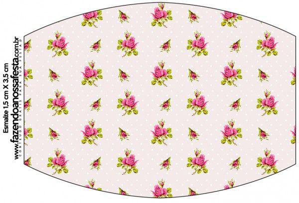 Esmalte Floral Rosa Vintage:
