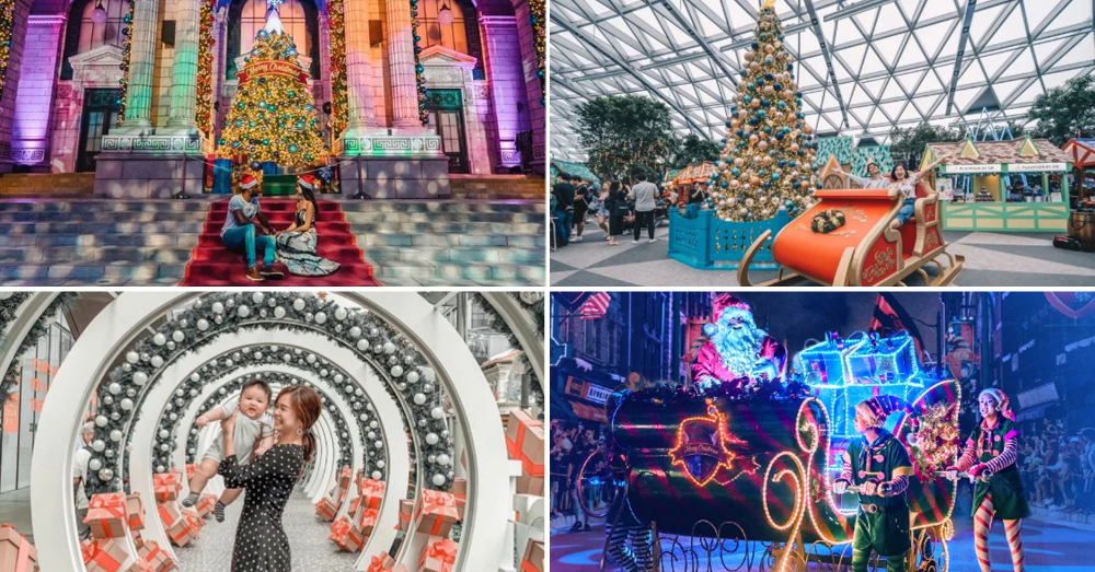 Christmas Light Up 2019 12 Spots In Singapore With Giant Trees Festive Carnivals Snowfall Christmas Lights Christmas Tree Images Giant Tree