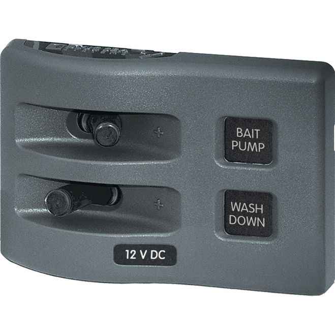 Blue Sea 4303 Weatherdeck 12v Dc Waterproof Switch Panel 2 Position 4303