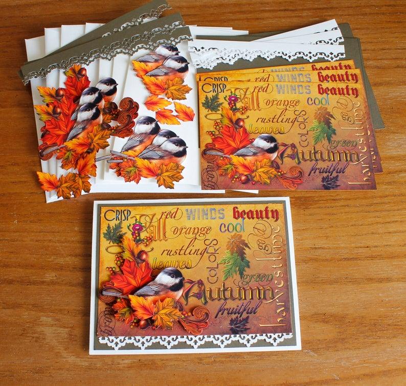 diy card kit handmade autumn greeting card all occasion