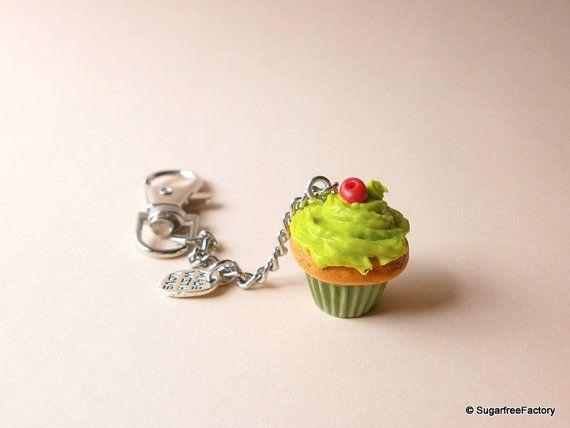 Cupcake keychain Mini food keychain Fake by SugarfreeFactory