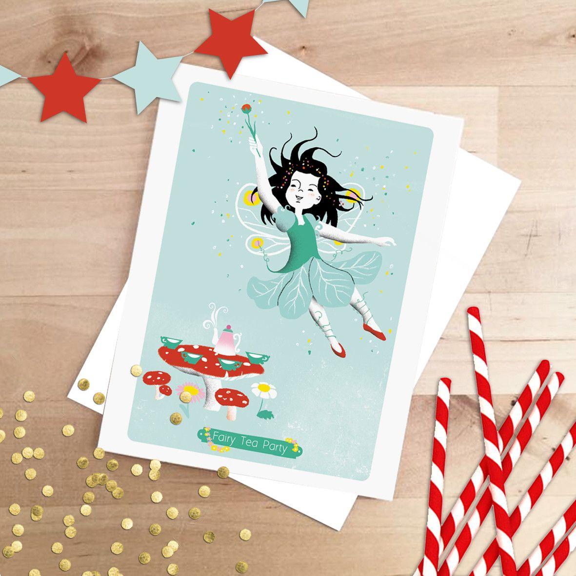 Carton d'invitation anniversaire - Fée   Invitation anniversaire, Carton invitation, Invitation