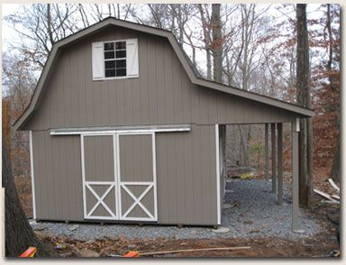 Best way to add on to a gambrel garage the garage for Gambrel style shed