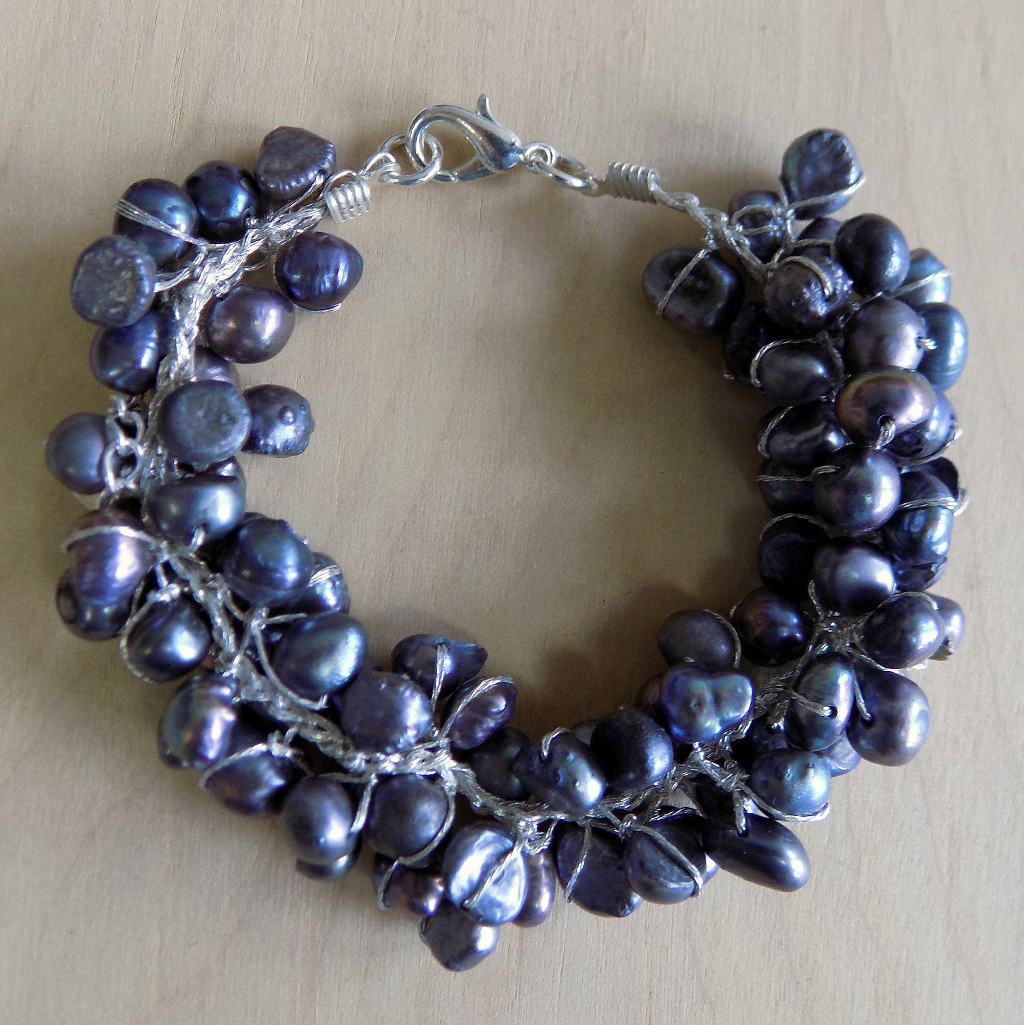 Black Pearl Chunky Bracelet