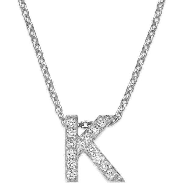 Giani bernini cubic zirconia initial pendant necklace 21 liked giani bernini cubic zirconia initial pendant necklace 21 liked on polyvore featuring jewelry aloadofball Choice Image