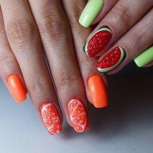 Фото дизайна ногтей с фруктами