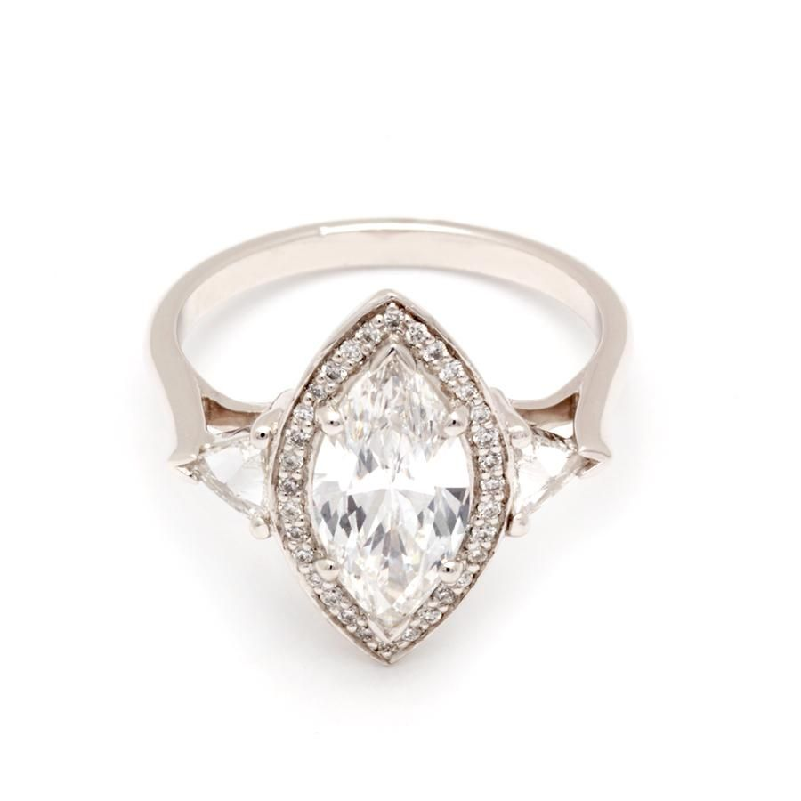 9a77738e03408 Marquise Bea Halo Ring - Platinum & White Diamond (1.46ct) | Bea ...