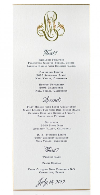 in good taste formal dinner menu card etiquette your pinterest