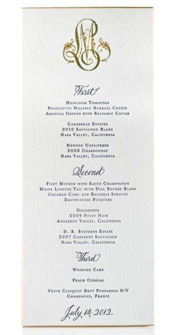 In Good Taste Formal Dinner Menu Card Etiquette Your Pinterest