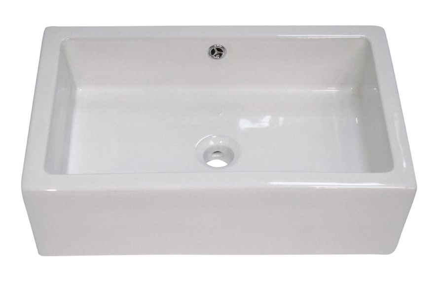 Alfi AB2214 Rectangular Farmhouse Apron Front Ceramic Bathroom Sink Basin
