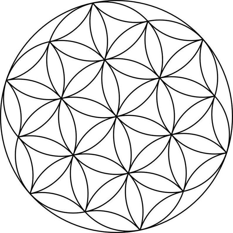 Flower of life canvas crystal grid etsy flower of life