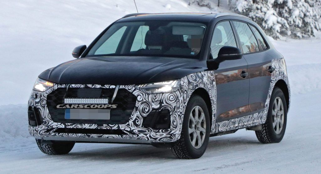 2020 Audi Q5 Caught Testing In The Snow Before Next Year's Debut | Carscoops #caught