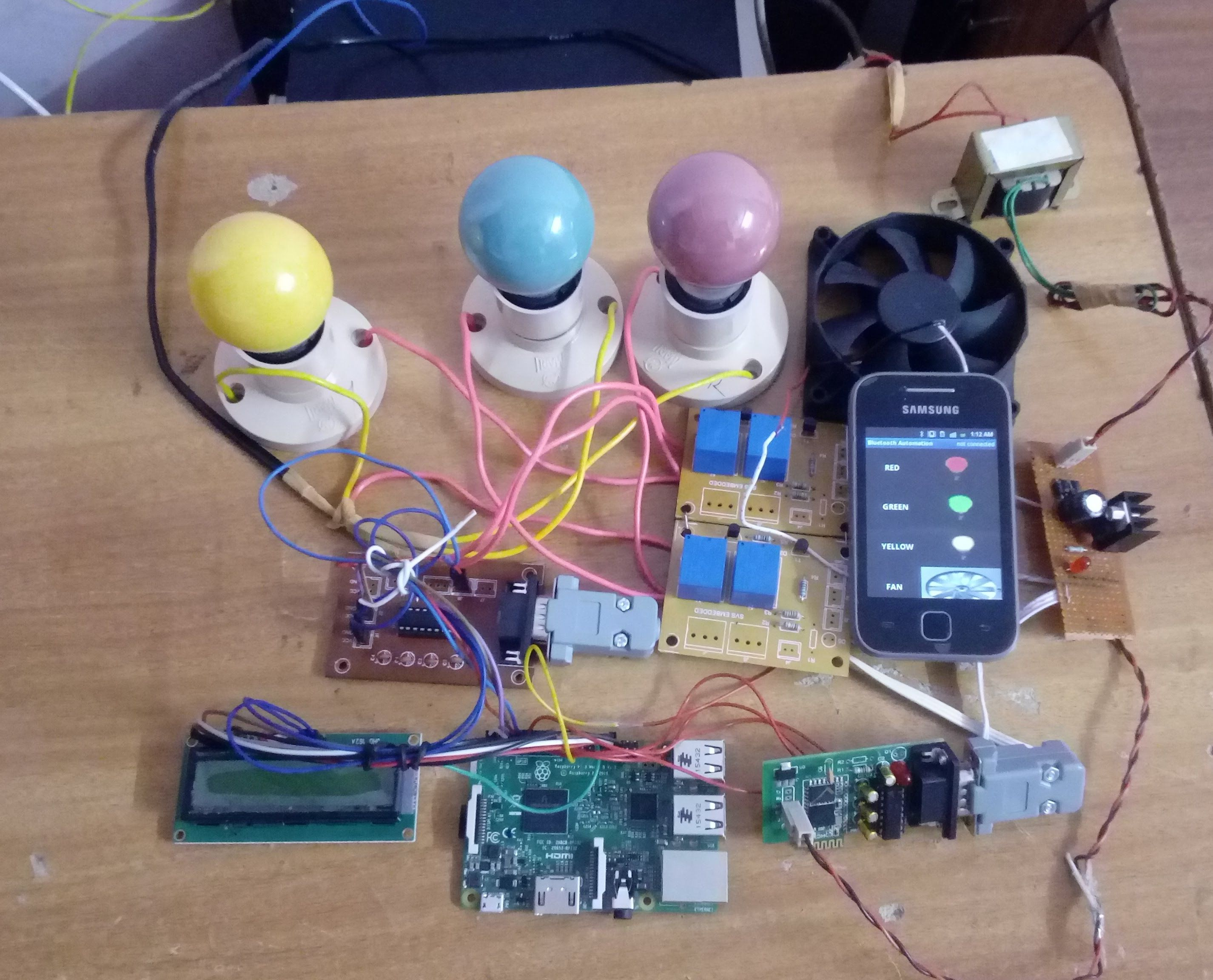 Raspberry Pi Based Home Automation Using Bluetooth Android Smart