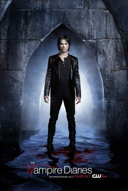 The Vampire Diaries Season 4 2013 New Promo Pic Damon Salvatore #TVD