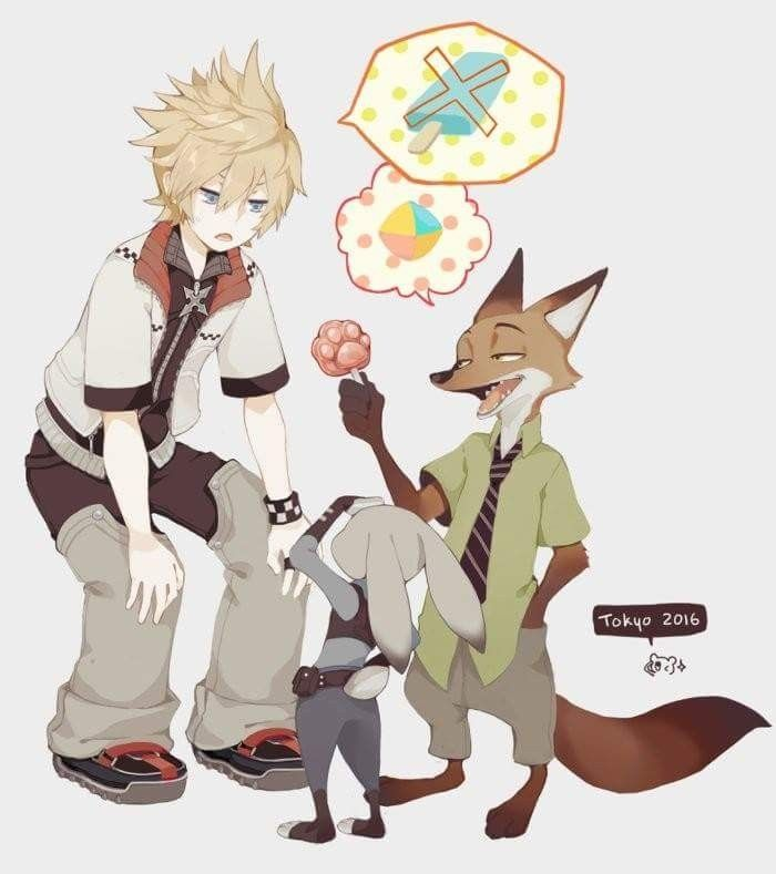 Kingdom hearts Mixed with Zootopia Roxad just only want Sea Salt Ice ...