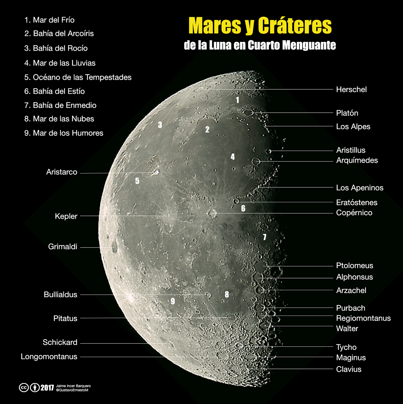 Luna Cuarto Menguante | Mares Y Crateres De La Luna En Cuarto Menguante On Behance