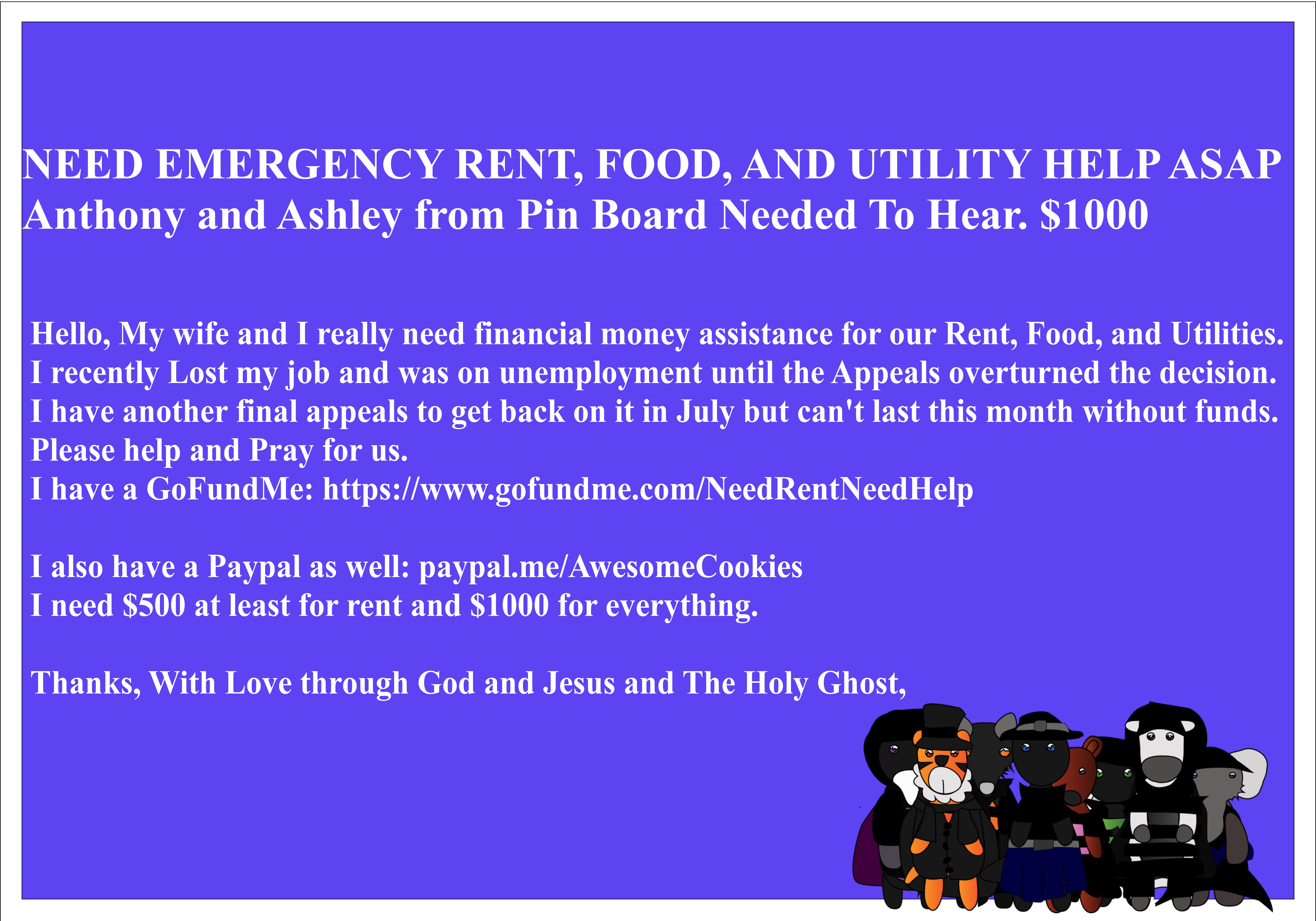 hello, my wife and i really need financial money assistance for our