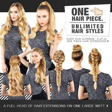 Easy Ways To Create Hair Styles Using A Volumizer Aka Hair Halo Aka Flip In Aka That One Pieces Thi One Piece Hair Extensions Hair Styles Wigs Hair Extensions