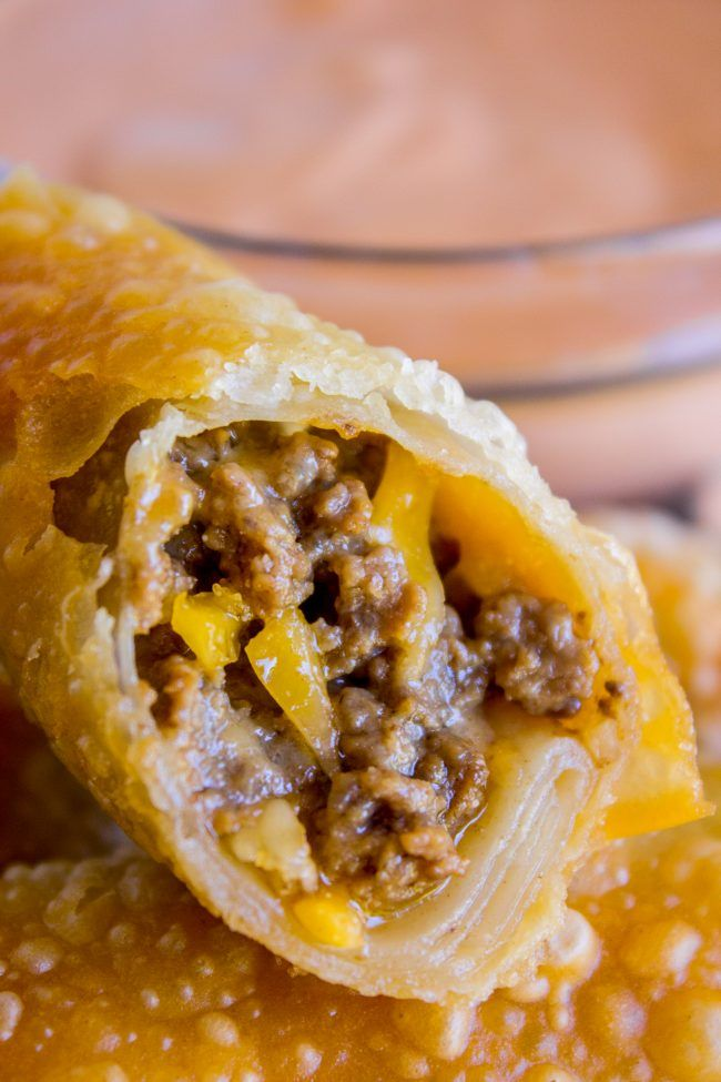 Cheeseburger Egg Rolls from The Food Charlatan. These have got to be one of the best mashups of all