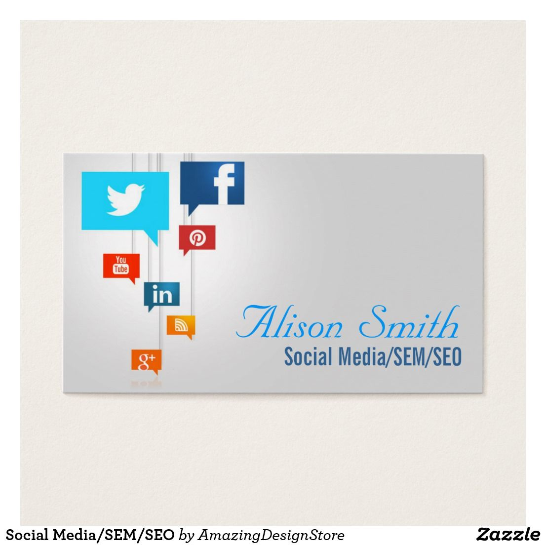 Social Media/SEM/SEO Business Card | Business cards, Seo and Business