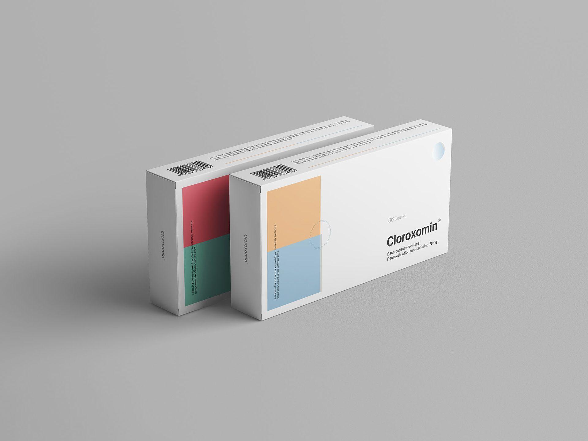 Download Pills Box Packaging Mockup On Behance Packaging Mockup Medicine Box Design Medical Packaging