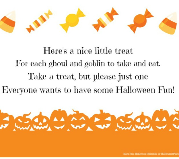 picture relating to Trick or Treat Signs Printable identified as Adorable, absolutely free printable indicator if on your own are leaving a bowl of