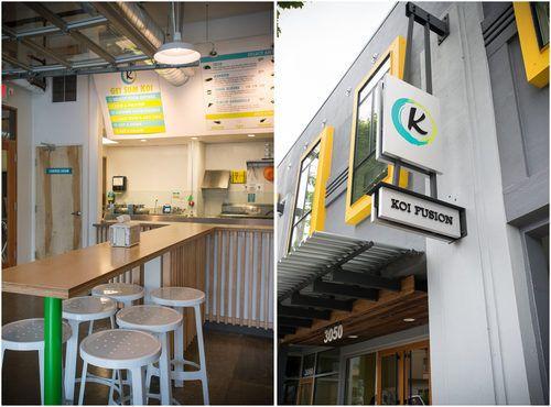 Inside Koi Fusion S Space Meets Surf Brick And Mortar Local Eats Portland Koi Brick Mortar Korean Tacos