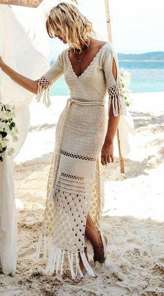 Boho crochet dress, organic cotton dress, Western Country
