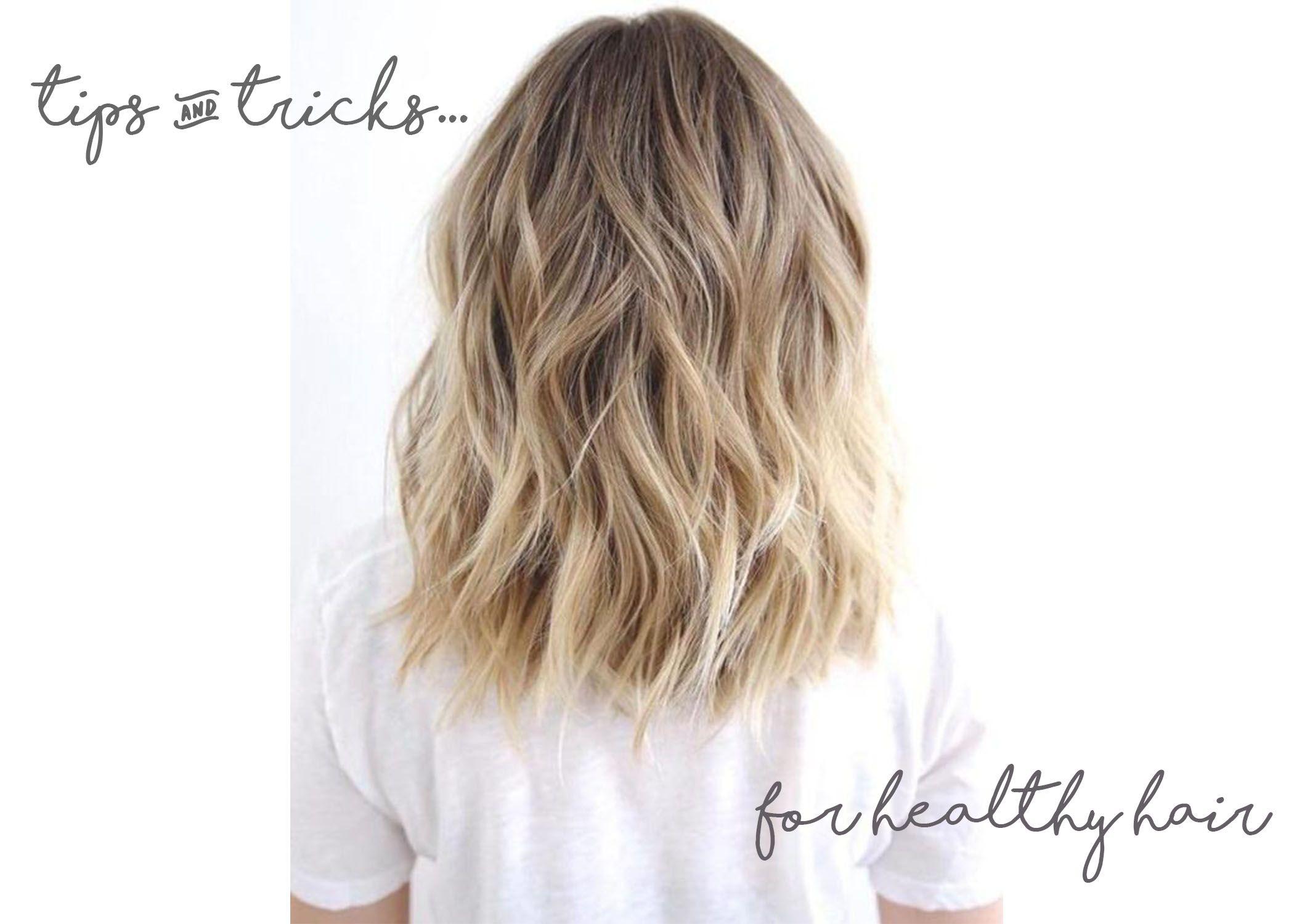 How To Get Healthy Hair Brown Blonde Hair Medium Shag Haircuts Beachy Waves Hair