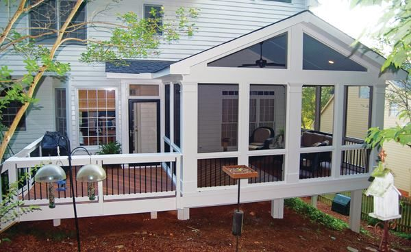 A Small Extension Off This Screened Porch Contains A