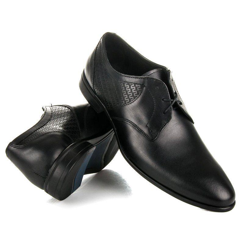 Polbuty Meskie Lucca Czarne Polbuty Na Wiazanie Lucca Dress Shoes Men Oxford Shoes Dress Shoes