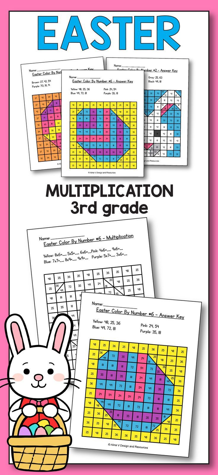 Easter Activities For 3rd Grade Easter Multiplication Worksheets
