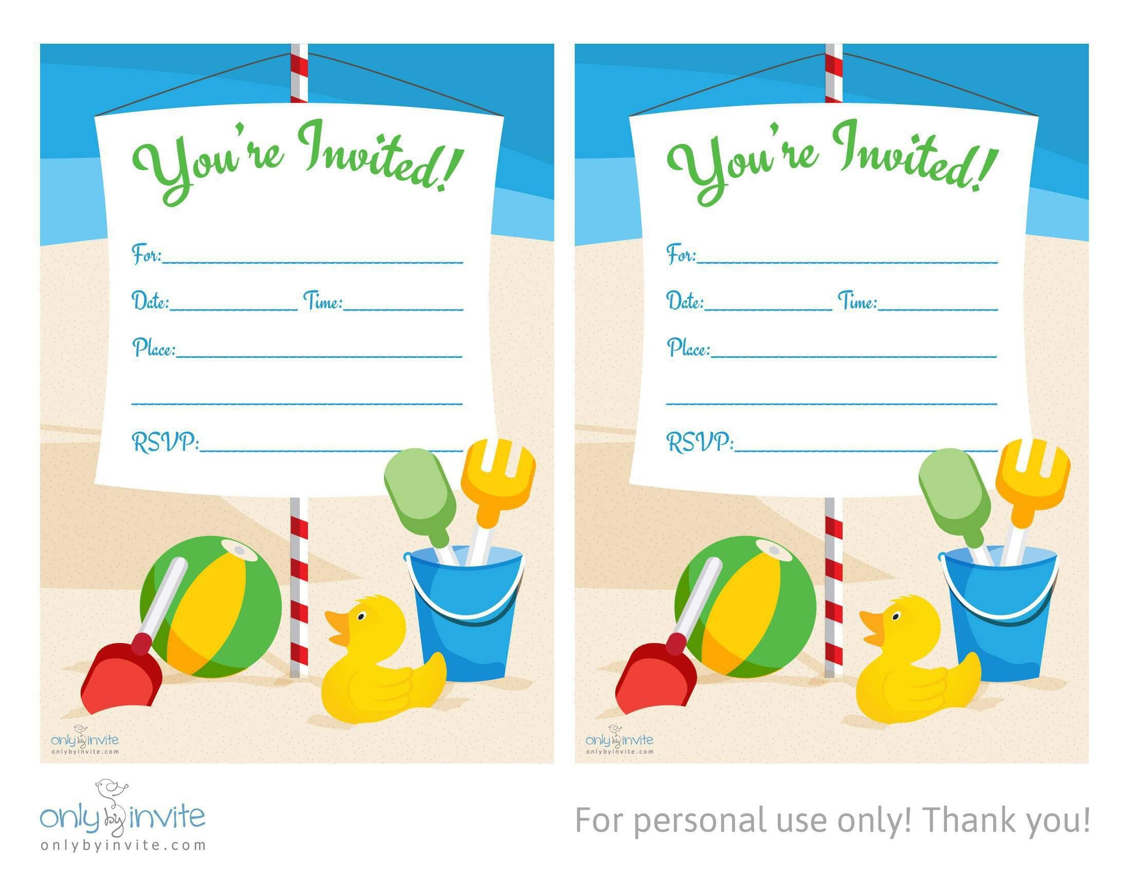birthday invitations free pdf