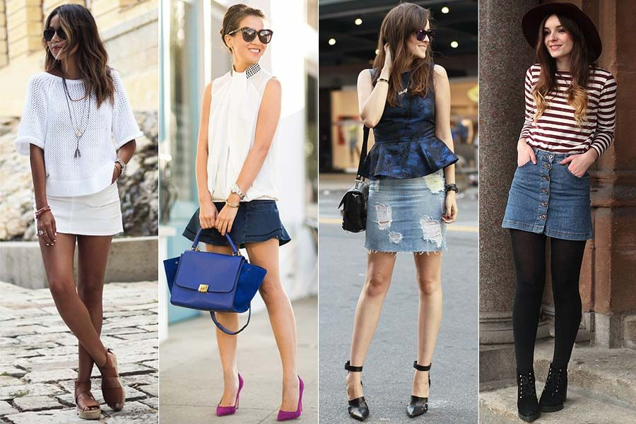 Como usar: Saia jeans   Just Lia