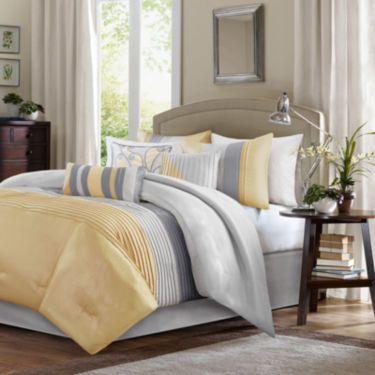 Madison Park Selma 7 Pc Comforter Set Comforter Sets Bed Comforter Sets Duvet Sets