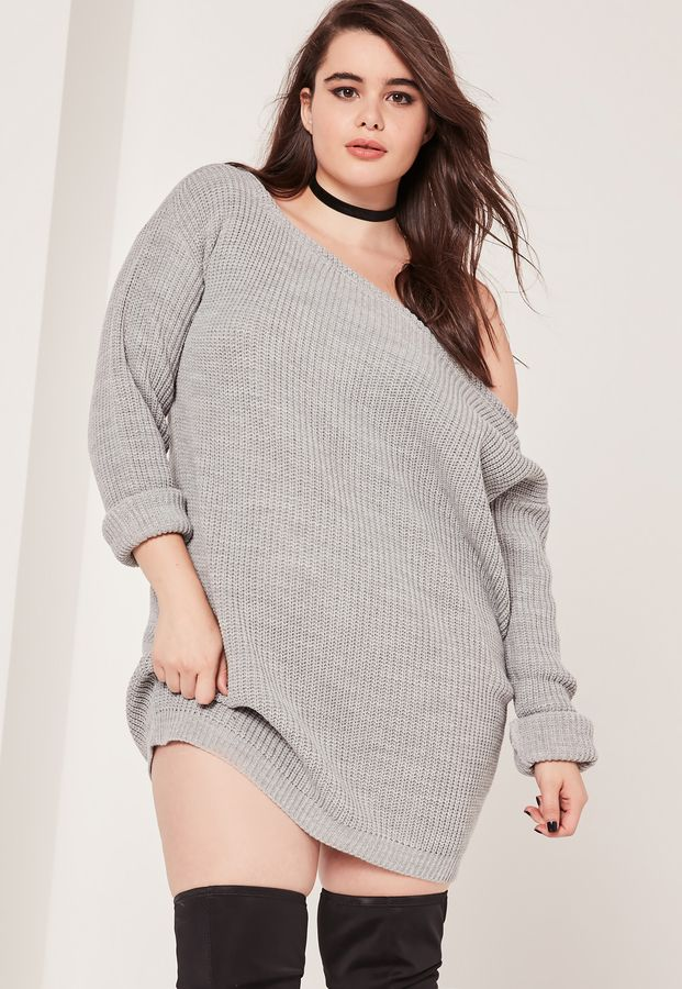 Plus Size Sweater Dress Women