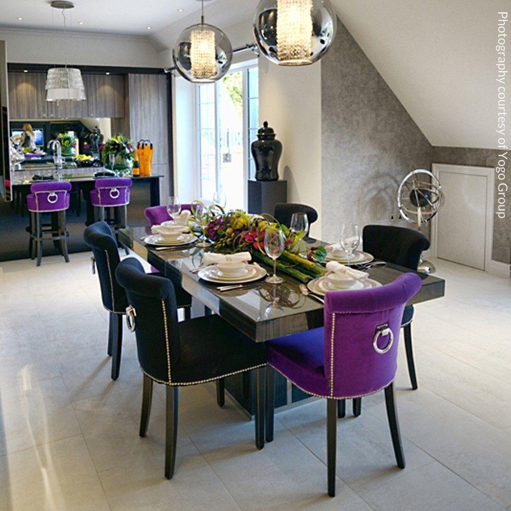 buy eichholtz key largo purple velvet chair from occa-home