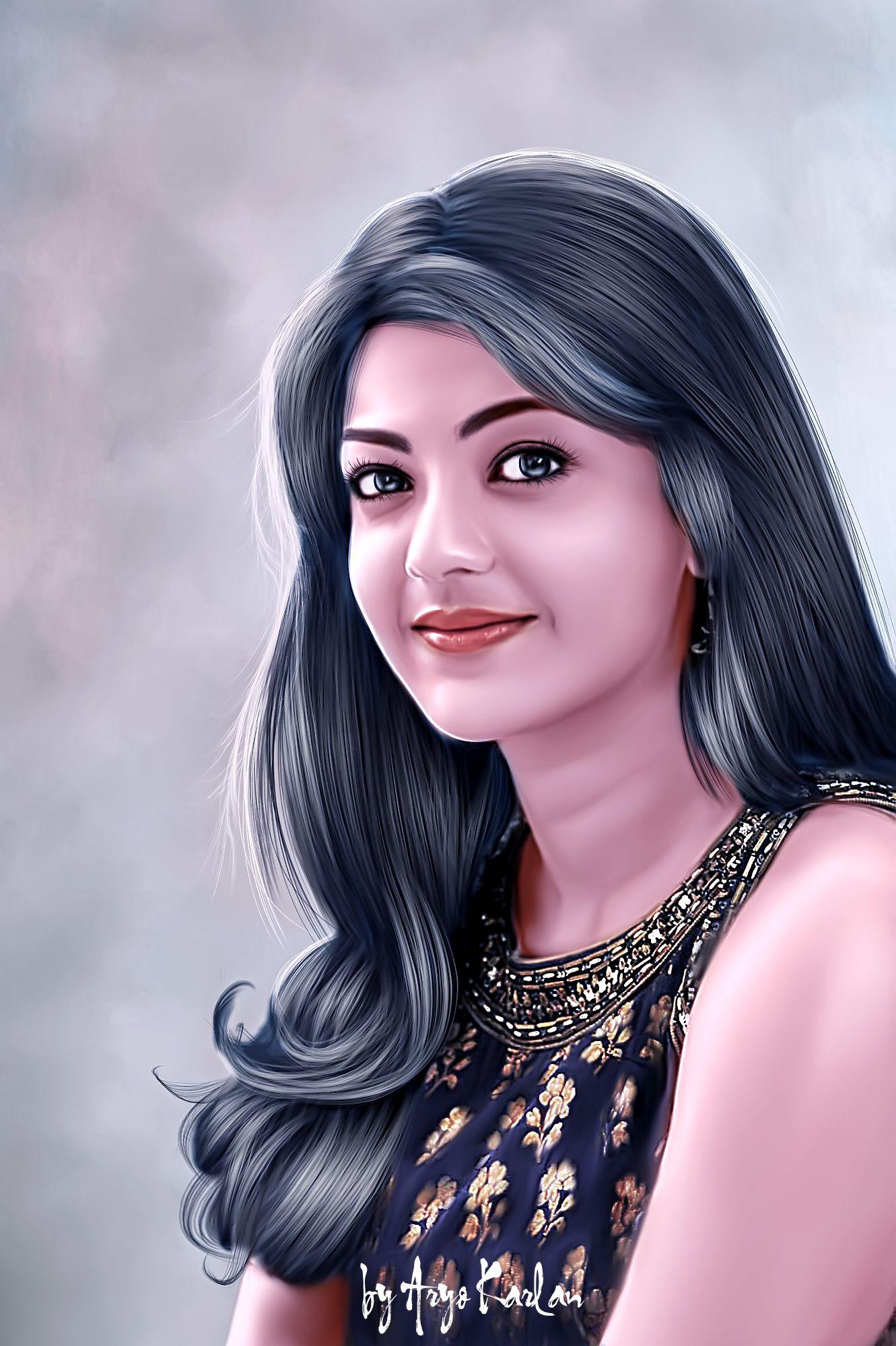Aryo karlan indian women painting beautiful girl face