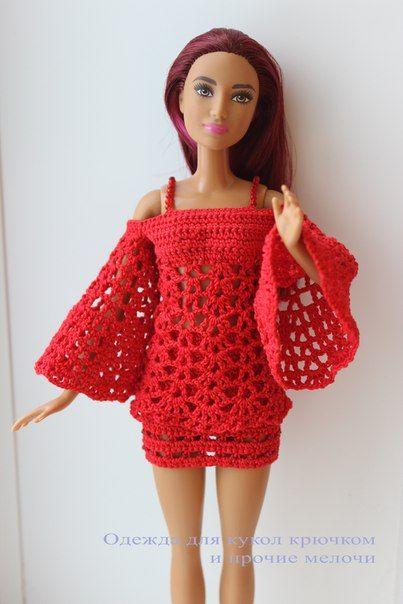 одежда для кукол крючком и прочие мелочи Barbie Kleedjes Haken