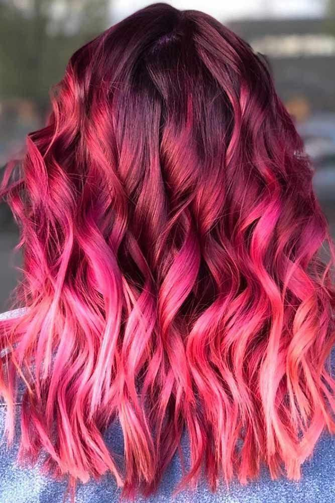 Hair Color 2017 2018 Shades Of Burgundy Ombre Pink Redhair